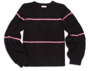Design History Girl's Cropped Stripe Sweater