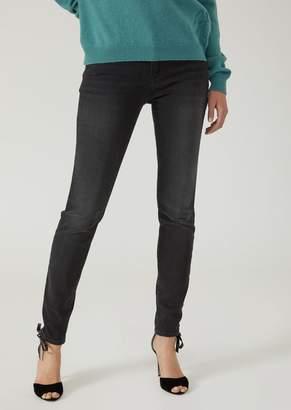 Emporio Armani Super Skinny Light Vintage Wash Stretch Denim Jeans
