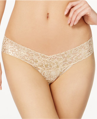 Hanky Panky Golden Leopard Sheer Lace Low-Rise Thong 4F1586 $26 thestylecure.com