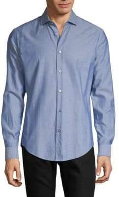 HUGO BOSS Ridley 32F Slim-Fit Dotted Shirt