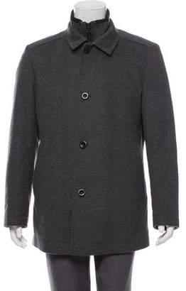 HUGO BOSS Wool Notch-Lapel Coat