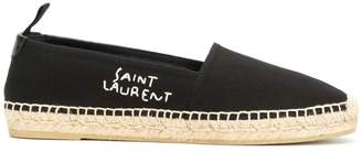 Saint Laurent branded espadrilles
