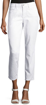NYDJ Clarissa Cropped Skinny Twill Jeans $110 thestylecure.com