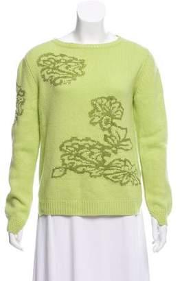 Ermanno Scervino Cashmere Embroidered Sweater