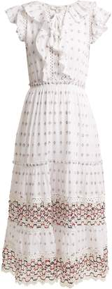 Sea Colette lace-trimmed embroidered cotton dress
