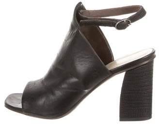 Coclico Leather Peep-Toe Sandals