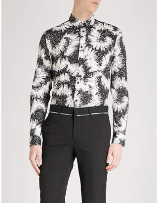 Givenchy Floral-print slim-fit cotton shirt