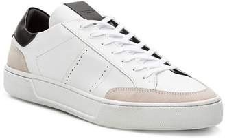 The Kooples Leather & Suede Lace-Up Sneakers