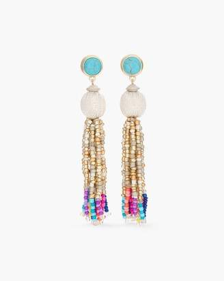 Multi-Colored Seed Bead Chandelier Earrings