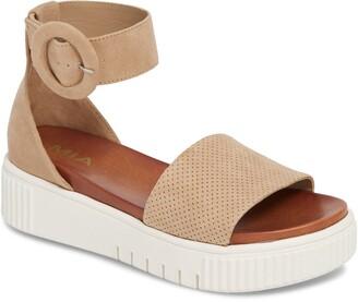 Mia Rosanna Perforated Platform Sandal