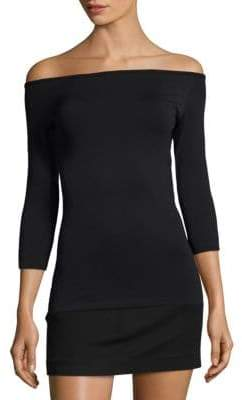 Helmut Lang Off-The-Shoulder Seamless Tee