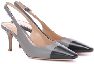 Gianvito Rossi Exclusive to Mytheresa Lucy 70 leather slingback pumps