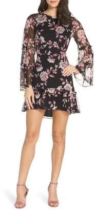 Ali & Jay Dreamer Floral Chiffon Minidress