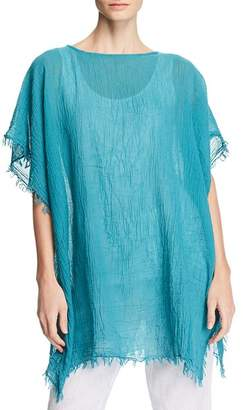 Eileen Fisher Frayed Organic Cotton Poncho