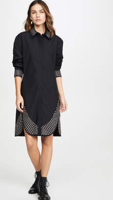 Paco Rabanne Collared Shirt Dress