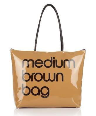 Bloomingdale's Zip Top Medium Brown Bag - 100% Exclusive