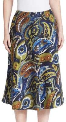 Lafayette 148 New York Printed Wool Blend Skirt