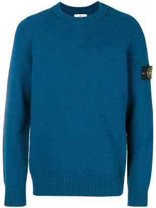 Stone Island knitted crew neck sweater