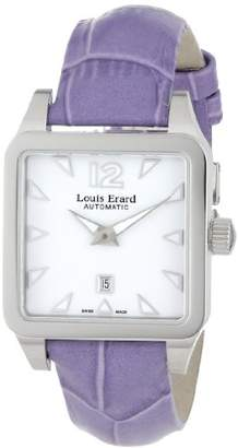 Louis Erard Women's 20700AA01.BDC63 Emotion Square Automatic Purple Leather Watch