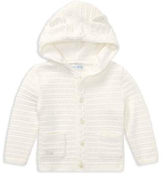 Ralph Lauren Unisex Hooded Cotton Cardigan with Bear Ears - Baby