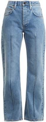 Raey Pin pintuck straight-leg jean