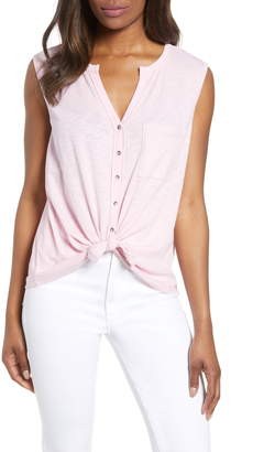 Caslon Sleeveless Button Top