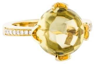 Frederic Sage 18K Quartz & Diamond Ring