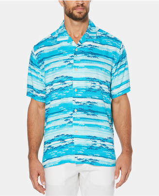 Cubavera Men's Watercolor Short-Sleeve Shirt