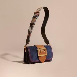 Burberry The Small Buckle Bag in Suede with Topstitching $1,295 thestylecure.com