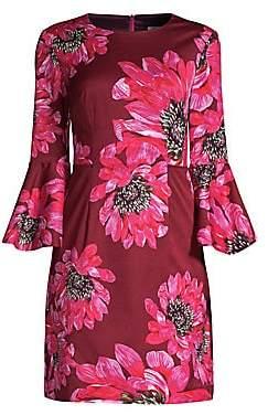 Trina Turk Women's Casa Mexico Splendid Bell-Sleeve Mini Dress