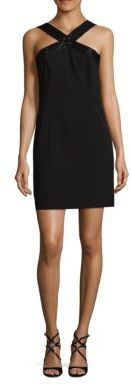 Laundry by Shelli Segal Beaded Crepe Halter Dress $195 thestylecure.com