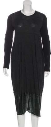 Hache Long Sleeve Midi Dress