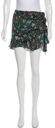 Veronica Beard Printed Silk Mini Skirt