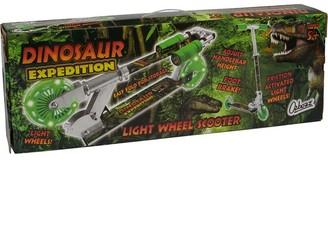 Ozbozz Dinosaur Light Up Scooter Green