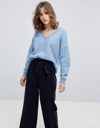 Selected Slouchy V-Neck Sweater