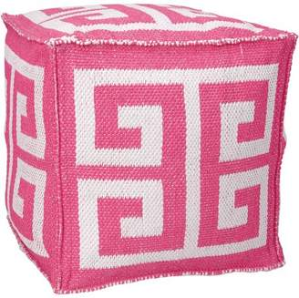 "Nourison Indoor/Outdoor Greek Key Cube, 16"" x 16"" Available In Multiple Colors"