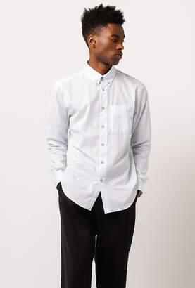 Naked & Famous Denim Vertical Stripe Lounge Shirt