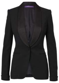 Ralph Lauren Sawyer Wool Tuxedo Jacket Black 2