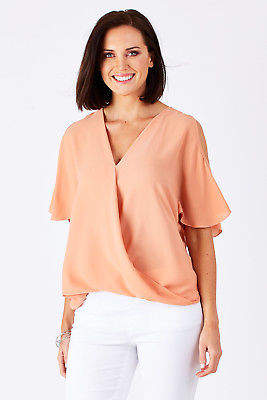 NEW bird keepers Womens Blouses The Cut Out Shoulder Blouse