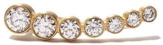 Sophie Bille Brahe 18kt yellow gold petite Croissant De Lune diamond earring