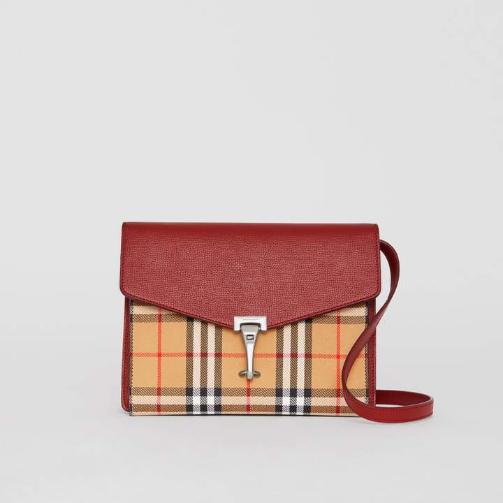 d610a8d713f Burberry Small Vintage Check and Leather Crossbody Bag - ShopStyle Clutches