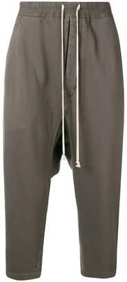 Rick Owens cropped dropped crotch track pants