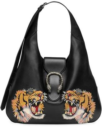 Gucci Dionysus embroidered maxi leather hobo