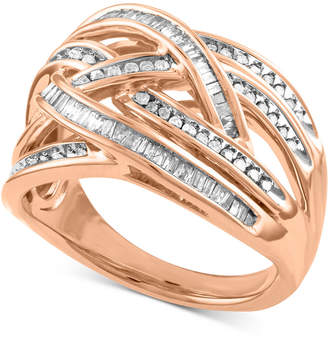 Macy's Diamond Overlap Crisscross Ring (1/2 ct. t.w.)