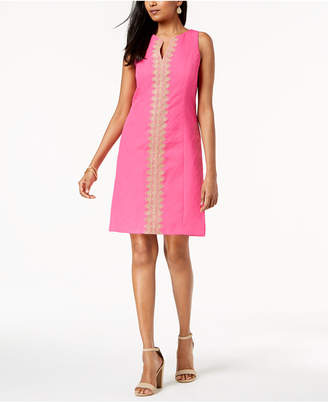 Pappagallo Brooke Lace-Trim Shift Dress