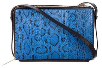 Reed Krakoff Snakeskin Double-Zip Crossbody Bag