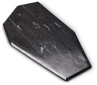 Black Natural Marble Faceted Trivet
