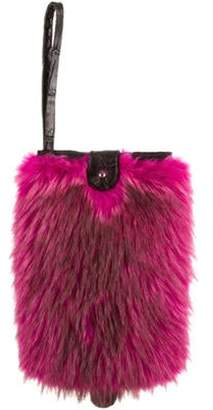 Dennis Basso Fur iPad Mini Case w/ Tags Magenta Dennis Basso Fur iPad Mini Case w/ Tags