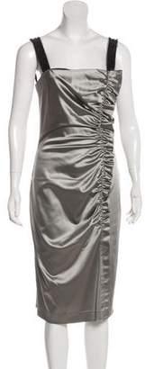 Philosophy di Alberta Ferretti Ruched Cocktail Dress
