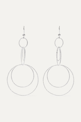 Carolina Bucci Florentine 18-karat White Gold Earrings